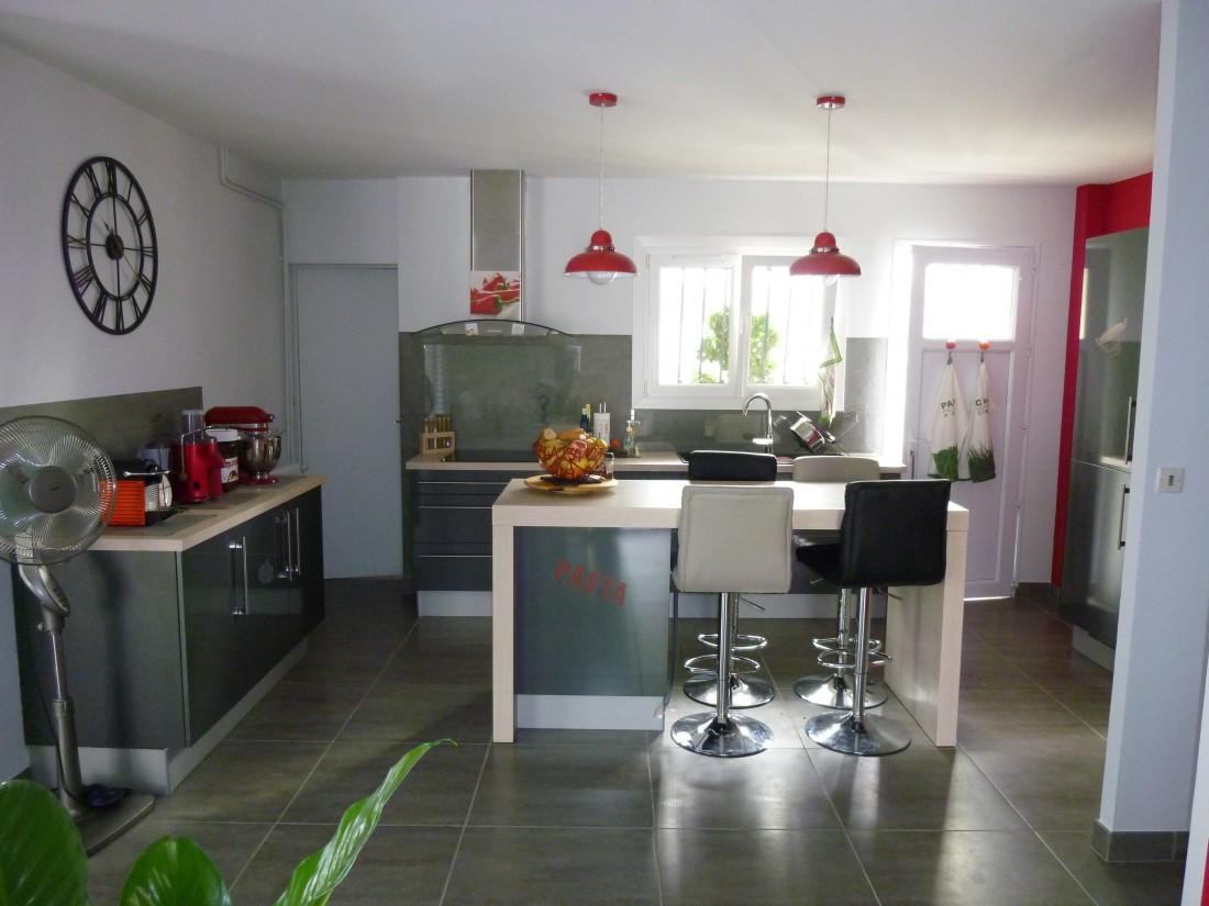 Restructuration d'un séjour et cuisine