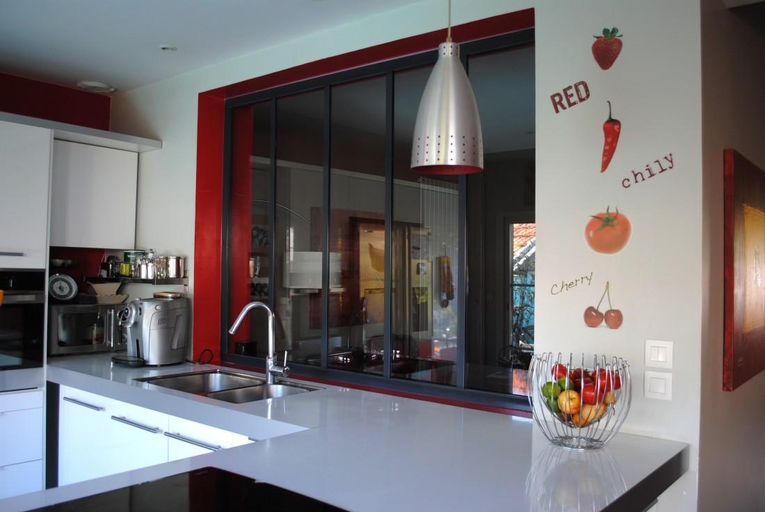 Création d'une cuisine et verrière séparative