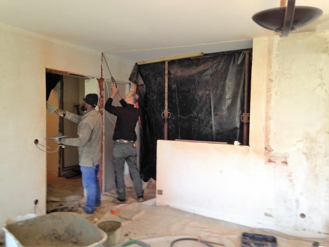 Travaux d'aménagement de séjour et de cuisine ouverte à Bruges