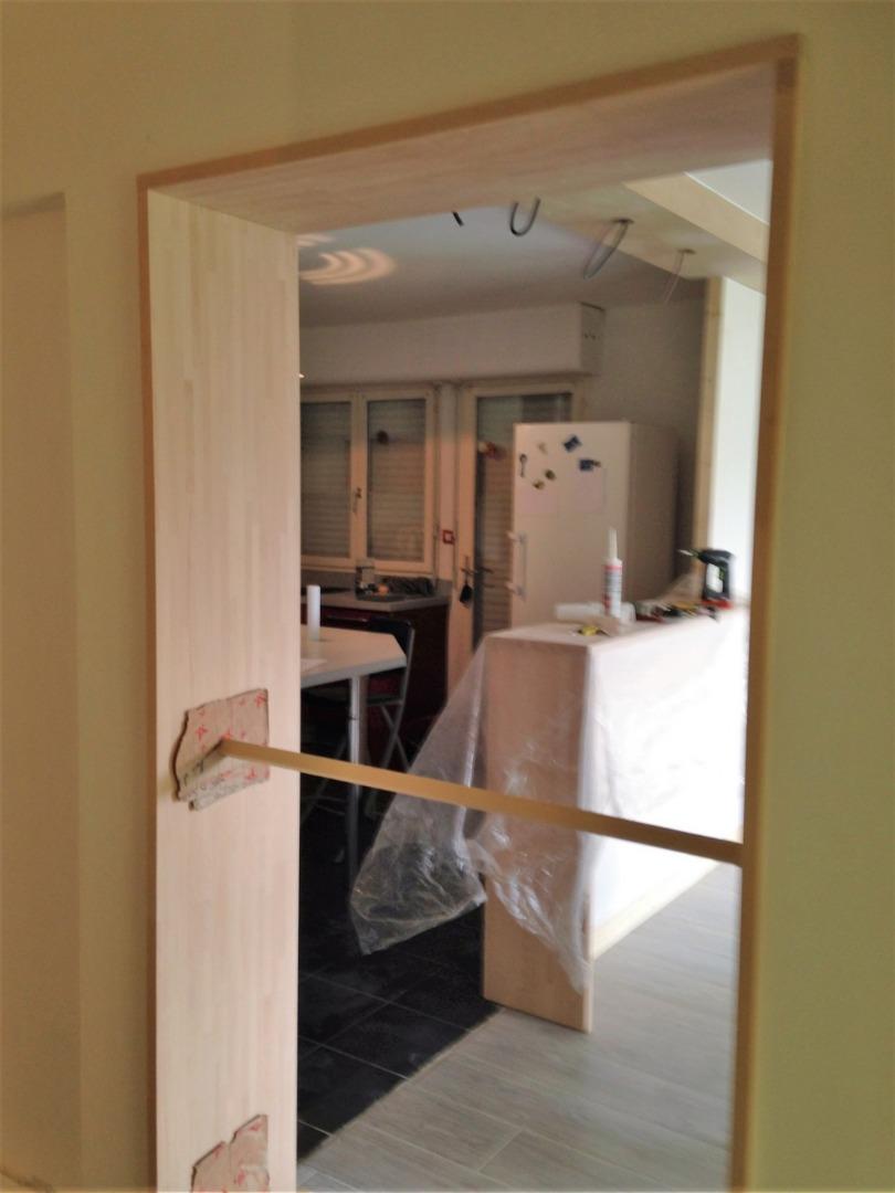 Travaux de rénovation d'une entrée à Bruges