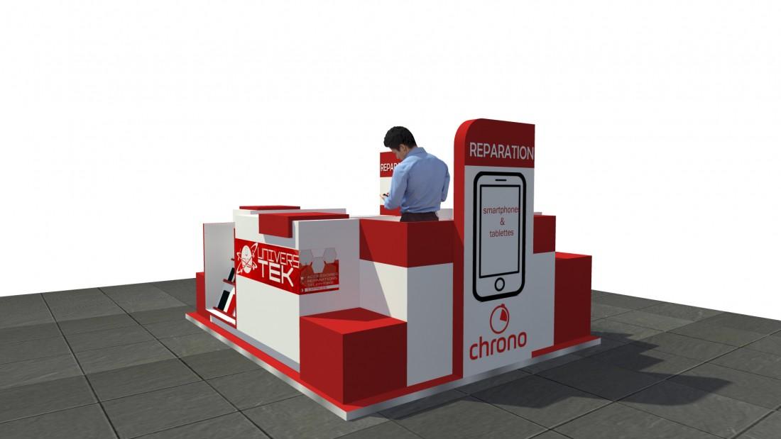 Projet : conception d'un corner pour réparer smartphone et tablette