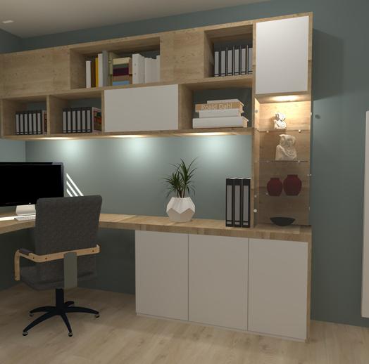 Projet d'aménagement d'un bureau avec un coin couchage à Bordeaux