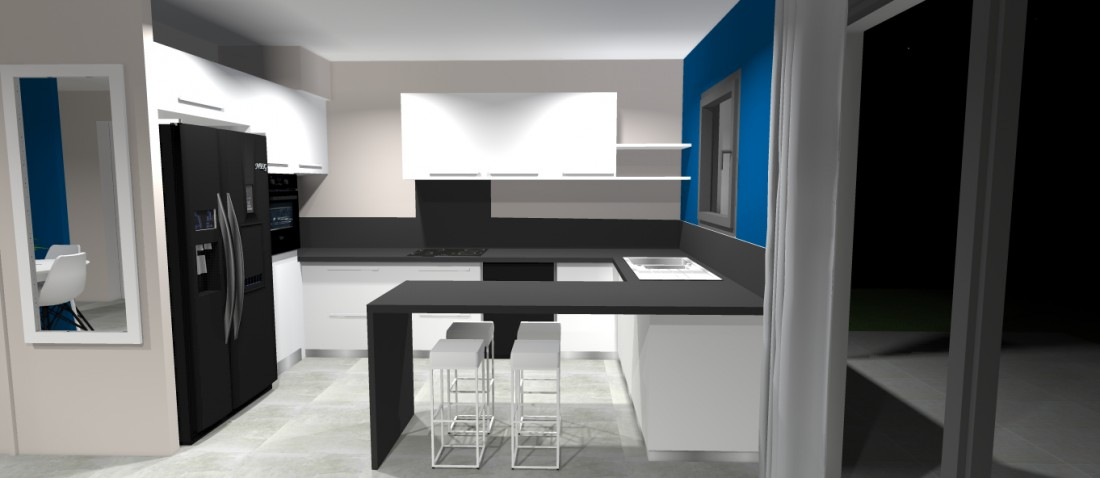Projet de aménagement et décoration intérieure d'une maison neuve à Ambarès